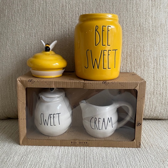 SOLD Rae Dunn Bee Sweet Canister and Sweet & Cream